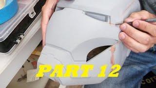 getlinkyoutube.com-IRON MAN HELMET BUILD PART 12 ~ DETAIL LINES & NECK OPENING