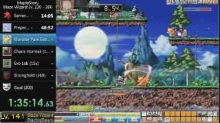 getlinkyoutube.com-[GMS] MapleStory Blaze Wizard Lv. 120-200 in Less Than 9 Hours