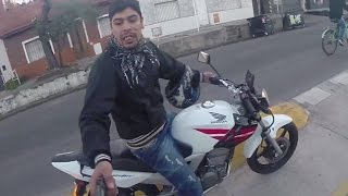 getlinkyoutube.com-Attempted robbery at gunpoint caught on GoPro!!!