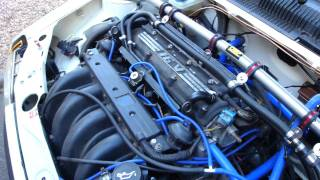 getlinkyoutube.com-Peugeot 205 GTI Track Car with 2.0 MI16 engine fitted - Engine Bay.MP4
