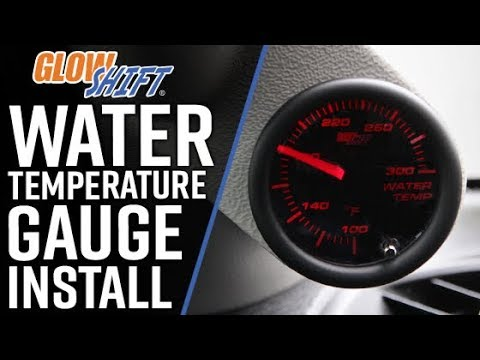 GlowShift | How To Install A Water Temperature Gauge