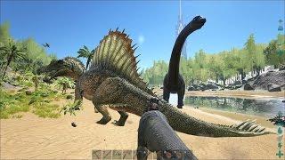 getlinkyoutube.com-ARK: Survival Evolved - My 49 lvl Carnotaurus vs Spinosaurus 21 lvl!