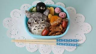 getlinkyoutube.com-Totoro Bento lunch box トトロ弁当 まっくろくろすけもいるよ!
