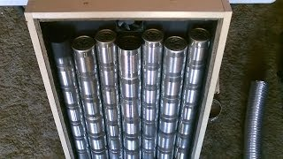 "getlinkyoutube.com-Homemade ""Steel Can"" Solar Air Heater! DIY - STEEL CAN Air Heater! (140F+) - EASY Instructions!"
