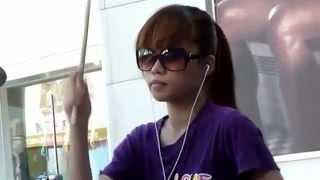 getlinkyoutube.com-Just Dance สาวไต้หวัน ตีกลองชุด Chen Man Qing Drum Cover