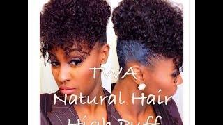 getlinkyoutube.com-HIGHLY REQUESTED: TWA Natural Hair High Puff | SHLINDA1