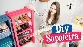 DIY - SAPATEIRA DE MADEIRA / Móveis do Meu Quarto PARTE 2
