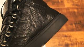 BALENCIAGA ARENA HIGHS (BLACK REVIEW AND ON FOOT!