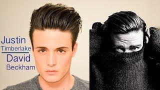 David Beckham/Justin Timberlake Inspired Hairstyle tutorial , Modern Slick Back