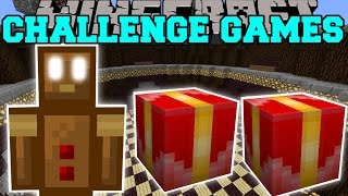 getlinkyoutube.com-Minecraft: GINGERBREAD MAN CHALLENGE GAMES - Lucky Block Mod - Modded Mini-Game