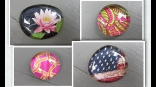 getlinkyoutube.com-Easy Glass Picture Stone Magnets Craft  Make Something Monday