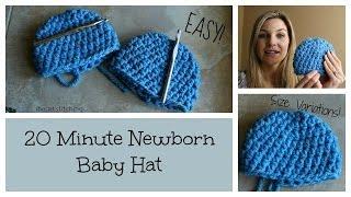 getlinkyoutube.com-20 Minute Newborn Crochet Beanie