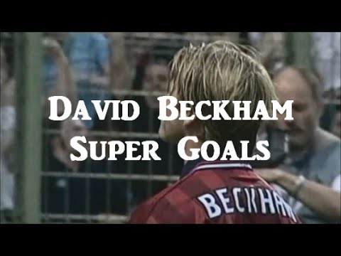 David Beckham retires | Super Goals in Manchester United FC ~ デビッド・ベッカム スーパーゴール集