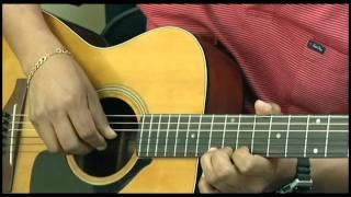 Como tocar TRISTE CANCION DE AMOR en guitarra acustica