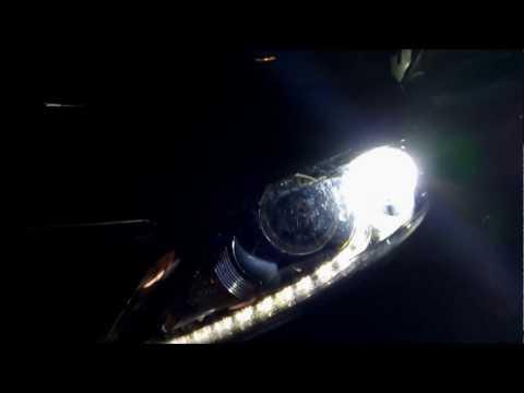 Установка диодных ламп Partol H7 в ближний свет фар линз на KIA Sportage без переделок (2018 год)