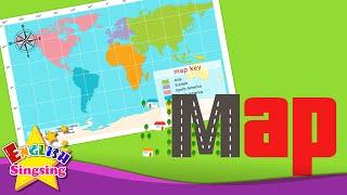 getlinkyoutube.com-Kids vocabulary - Map - Using a map - Learn English for kids - English educational video