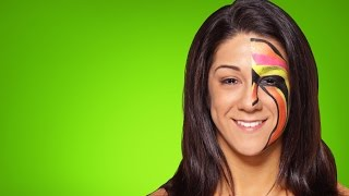 getlinkyoutube.com-Bayley becomes The Ultimate Warrior: WWE Halloween Makeup Tutorial