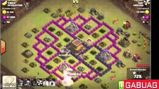getlinkyoutube.com-Cara Jitu Menyerang Town Hall Level 8 Hog Rider War 100%