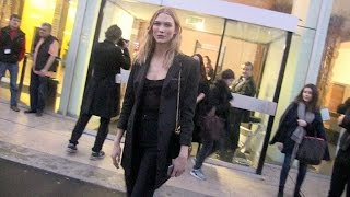 getlinkyoutube.com-EXCLUSIVE - Karlie Kloss, Joan Smalls and more at Anthony Vaccarello Fashion Show in Paris
