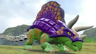 getlinkyoutube.com-LEGO Jurassic World - Ankylosaurus Unlock Location + Gameplay (Skeleton & Custom Dinosaur Showcase)
