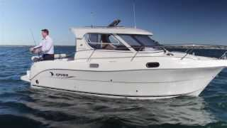 getlinkyoutube.com-Arvor Weekender, Shaft drive | Turbo diesel | Semi displacement Hull | Family / Fishing boat