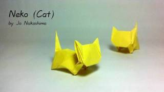 getlinkyoutube.com-Origami Neko - Cat (Jo Nakashima)