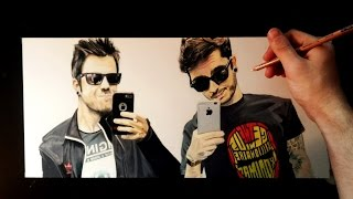 getlinkyoutube.com-Dibujando a Youtubers | Auronplay y Wismichu