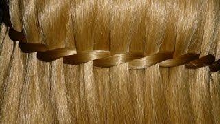 Коса водопад. Причёска с плетением для средних и длинных волос