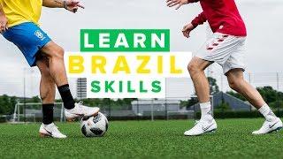 LEARN BEST BRAZIL FOOTBALL SKILLS   how to play like Neymar