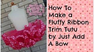 getlinkyoutube.com-HOW TO: Make a Fluffy Ribbon Trim Tutu Minnie Mouse Theme Tutorial
