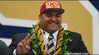 getlinkyoutube.com-Four-star OL Damien Mama picks the USC Trojans
