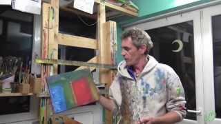 getlinkyoutube.com-Acrylmalerei - Farbeffekte herstellen Teil 1