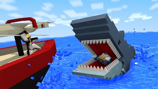 getlinkyoutube.com-Jaws Shark Attack Animated! (Minecraft Animation)