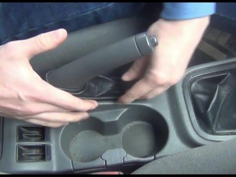 Регулировка стояночного тормоза или как подтянуть ручник на KIA - Spectra