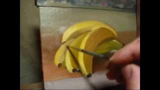 getlinkyoutube.com-Eric J Chapman Art - Daily Painting Time Lapse - Gone Bananas!