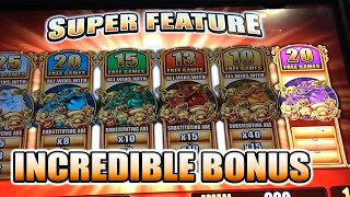 getlinkyoutube.com-5 FROGS INCREDIBLE SUPER FEATURE BIG WIN SLOT MACHINE BONUS