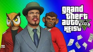 getlinkyoutube.com-GTA 5 Heists #2 - Nogla's Outfits & Epic Car Chase! (GTA 5 Online Funny Moments) [Part 1]