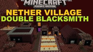 getlinkyoutube.com-MCPE 0.16.0 - NETHER VILLAGE WITH DOUBLE BLACKSMITH MAP ! FREE DOWNLOAD