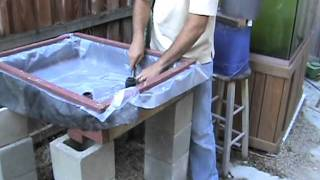 Download video home made aquaponics auto u siphon for for Hydroponic bed liner