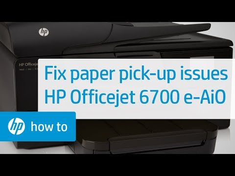 Printer Does Not Pick Up Paper  - HP Officejet 6700 Premium e-All-in-One Printer (H711n)