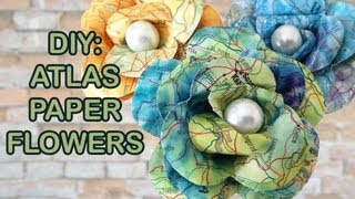 getlinkyoutube.com-DIY: Recycled Atlas 🌸 How to make paper flowers 🌸 Craftbrulee