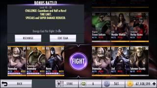getlinkyoutube.com-Final Bonus Battle w/ 50 VII Characters | Injustice iOS