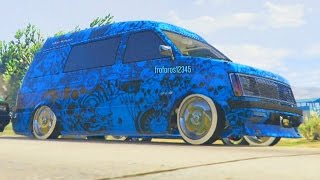 getlinkyoutube.com-CARRERA CON MI SUPER FURGO LOWRIDER!! - GTA V ONLINE FUNNY MOMENTS