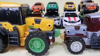 getlinkyoutube.com-또봇 14대 변신 기가세븐 14 Tobot transformation robot car toys