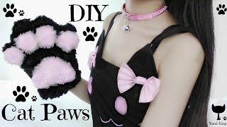 getlinkyoutube.com-DIY Cat Paws | Fluffy Paws | Halloween DIY
