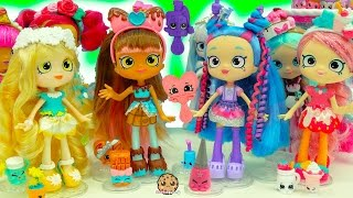 getlinkyoutube.com-New Season 7 Shopkins Shoppies Dolls Cocolette Lucy Smoothie, Daisy Petals & Polli Polish
