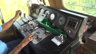 "getlinkyoutube.com-[IRFCA] Dibrugarh Rajdhani Express locomotive Cab Ride, Inside WDP4B ""GT46PACe"" Locomotive"
