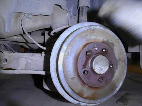 Как снять задний барабан на VW- POLO 10-11 г.выпуска