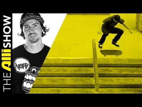 Alli Show - Greg Lutzka Works on Filming a Skateboarding Video Part