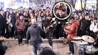 getlinkyoutube.com-구경하던 남학생 베이스 소름돋는 즉흥연주 라이브 (분리수거 홍대버스킹)